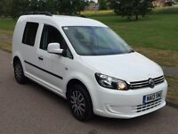 VW CADDY CREW VAN TREND 2013 1.6 Tdi BLUEMOTION NO VAT 1 OWNER