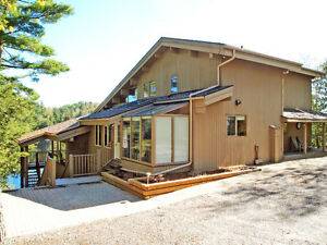 Mill Lake post and beam home with huge double garage!