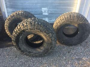 3 Tires- 37x12.5x15 Goodyear wrangler mt/r -Mud Tires-
