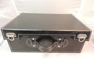 OLD TOWN LEATHER CARRYING CASE WITH STORAGE CONTAINERS