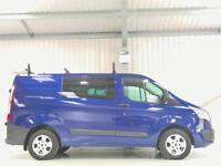FORD TRANSIT CUSTOM COMBI CREW CAB VAN 2.2TDCi 125PS TREND METALLIC BLUE SWB