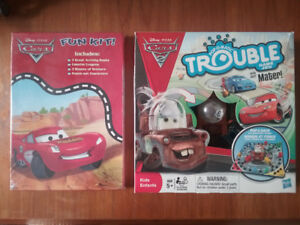 New Disney Cars Trouble Game & Fun Kit - $20 for both