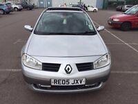 2005 Renault Megane Automatic Petrol 1.6 VVT Dynamique Panoramic Roof 5dr Hatchback Silver Hpi clear