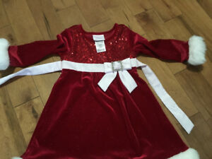 2T girls Christmas Dress