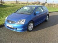 Honda Civic 1.6i VTEC ( 16in Alloys ) Sport MOT 11/1/19 94650 Mls 3 Dr met Blue