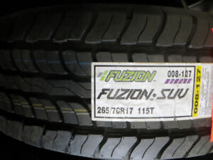 P265/70R17 NEW FUSION BY BRIDGESTONE $147.00 EACH ON SALE