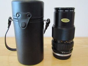 TELEPHOTO   LENS  WITH  CASE