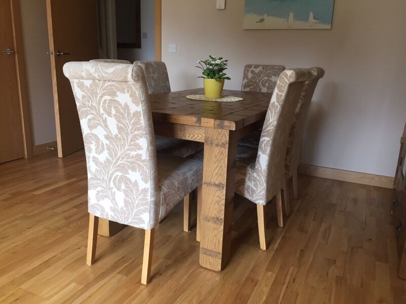 Oak Furniture Land Extendable Dining Room Table 6 Chairs
