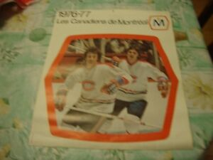 Molsons Hockey Calendar French Version 76-77