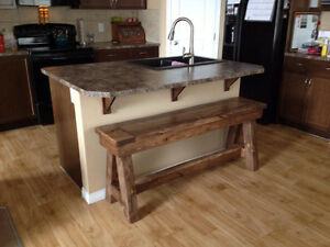 Custom Made Rustic Furniture (Toddler Tables, Benches, Etc) Strathcona County Edmonton Area image 8