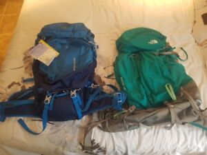 BRAND NEW!!! GREAT DEAL: 2 High End Camping Backpacks For Sale