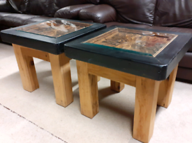 Pair of Solid Side Tables