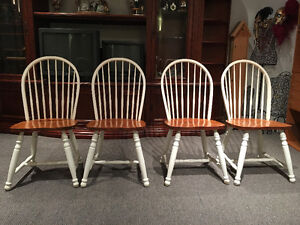 Four 8 Spindle Bowback Shaker Chairs
