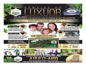 Terrains Domaine LUXUOR developpement domiciliaire  Chicoutimi,