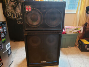 SWR Workingmans 2x10 and Yorkville 410b 4x10 bass cabs for sale.