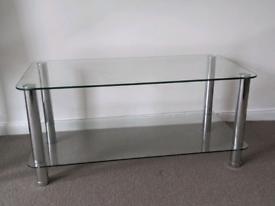 BEAUTIFUL GLASS TV STAND