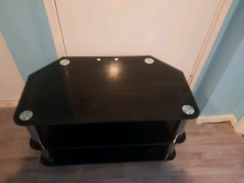 Glass TV Stand Black glass Effect