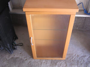 Wall Cabinet with Glass Shelves and Door