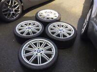 "BMW 19"" MV4 staggered alloy wheels"