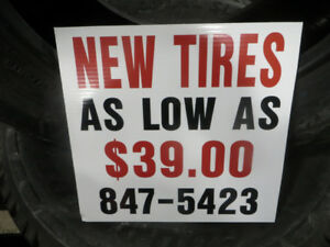 NEW TIRES AT WHOLESALE CALL 847-5411