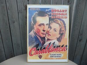 Casablanca Framed Poster $40 . Small crack in corner. Prince George British Columbia image 2