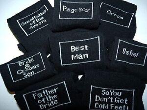 GROOM-Wedding-Mens-Socks-Black-Mens-WOVEN-Wedding-SOCKS-Over-26-Titles