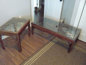 BAMBOO / RATTAN COFFEE & END TABLE