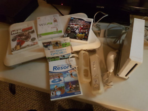 Wii console with fit board