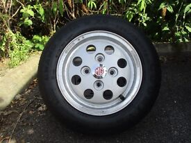 MG METRO ALLOY WHEEL AND TYRE