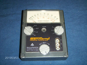 SERVITEMP THERMISTOR THERMOMETER-BACHARACH-USED