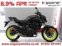YAMAHA MT-07 ABS 2018 MODEL, 18 REG ONLY 232 MILES IN NIGHT FLUO...