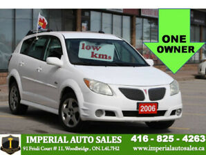 2006 Pontiac Vibe-FWD.**ONE OWNER**CERTIFICATION INCLUDED
