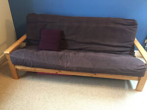 Pine futon - couch OR bed!