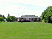 Beautiful Acreage and Large Ranch Style Home in Town !