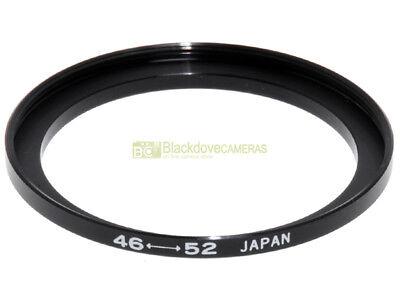 Anello adattatore step up 46/52mm. x montare filtri 52mm. su obiettivi diam. 46