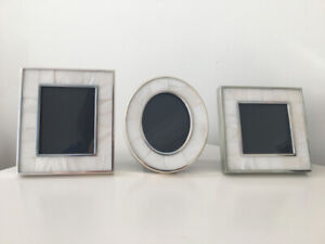 3 Picture Frames With White Shell Inlay