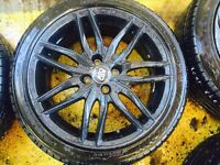 "17"" GENUINE OZ RACING ALLOY WHEELS ASTRA, CORSA, CLIO, MAGANE, CIVIC, MINI SET OF 4"