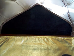 DISCO DAYS are here again! vintage METALLIC LEATHER CLUTCH PURSE Cambridge Kitchener Area image 3