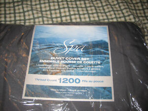 Spa Queen Size Duvet Cover 1200 Thread Count Windsor Region Ontario image 1