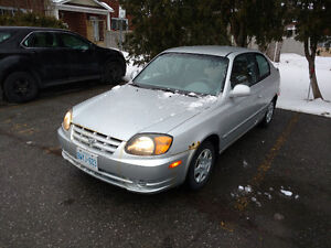 Low Km 2004 Hyundai Accent GS Coupe (2 door)