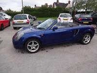 TOYOTA MR2 1.8 VVTi ROADSTER CONVERTIBLE~X'2000~MANUAL~STUNNING METALLIC BLUE