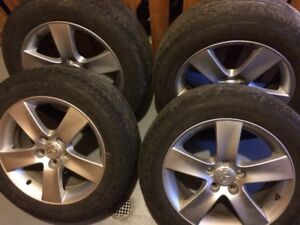 215 60 R 17 tires and alloy rims