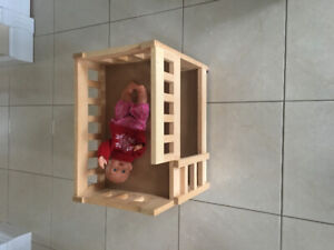 Solid Wood Doll Bunkbed
