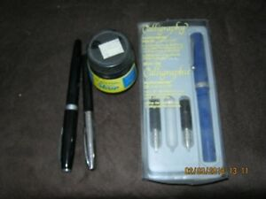Calligraphy Pens (Lot of 3) with jet black ink - by Scheaffer