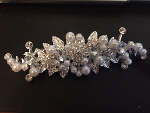 2 pretty wedding hair clips / barrettes -$10