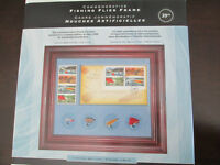 Fishing collectible frame & stamps - New - Gift