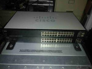 Cisco SG200-26P 26 Port Gigabit PoE Smart Switch with ears