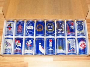 Vintage Labatt's Blue Winter Olympic Beer Can Set 1924-1988
