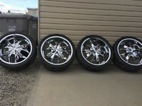 "22"" RIMS AND TIRES 265/35/R22"
