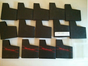 Nintendo NES sleeves 14 black sleevs and 2 see thru cases $15